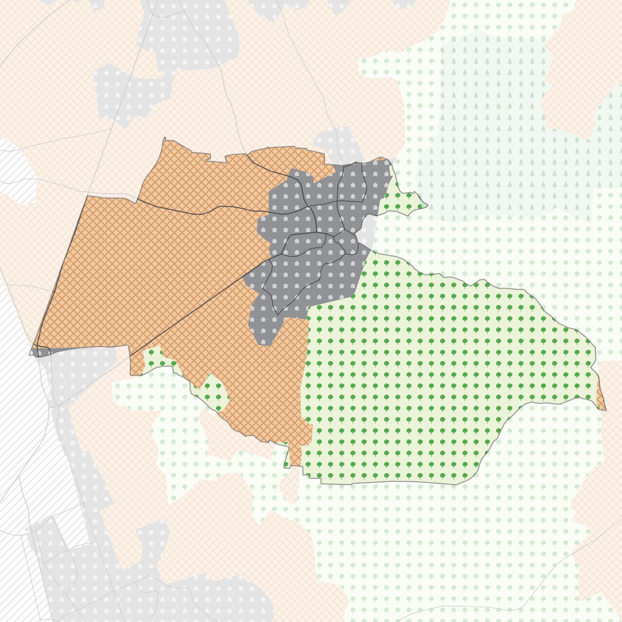 Carte vectorielle du territoire de Douvres